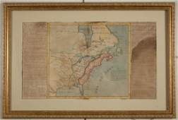 18TH CENTURY FRENCH COLONIAL / EARLY UNITED STATES MAP