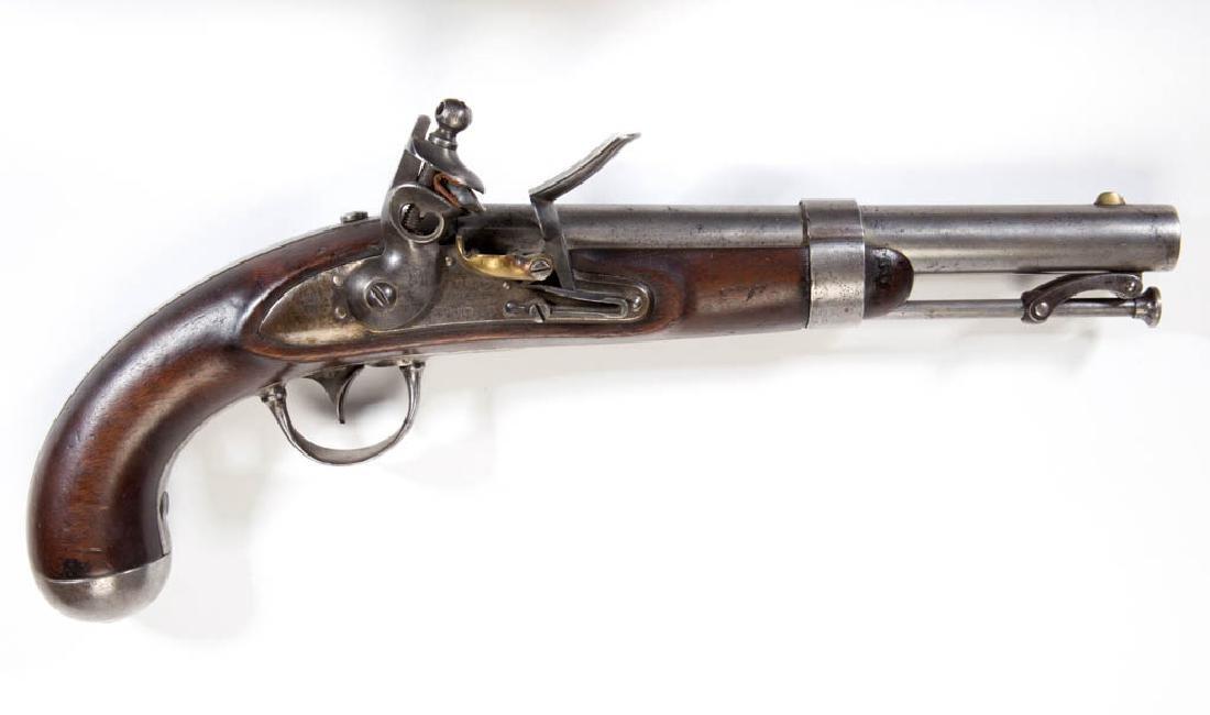 JOHNSON U.S. MODEL 1836 FLINTLOCK PISTOL