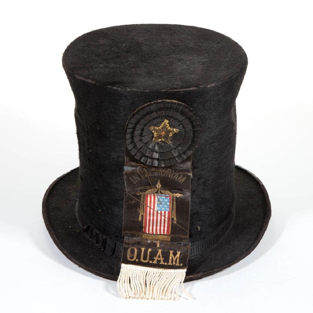 868c774c591d1d FRATERNAL ORDER MOURNING COCKADE / RIBBON AND TOP HAT - Nov 10, 2017 |  Jeffrey S. Evans & Associates in VA