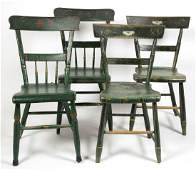 PENNSYLVANIA PAINT-DECORATED PLANK-BOTTOM CHAIRS, TWO