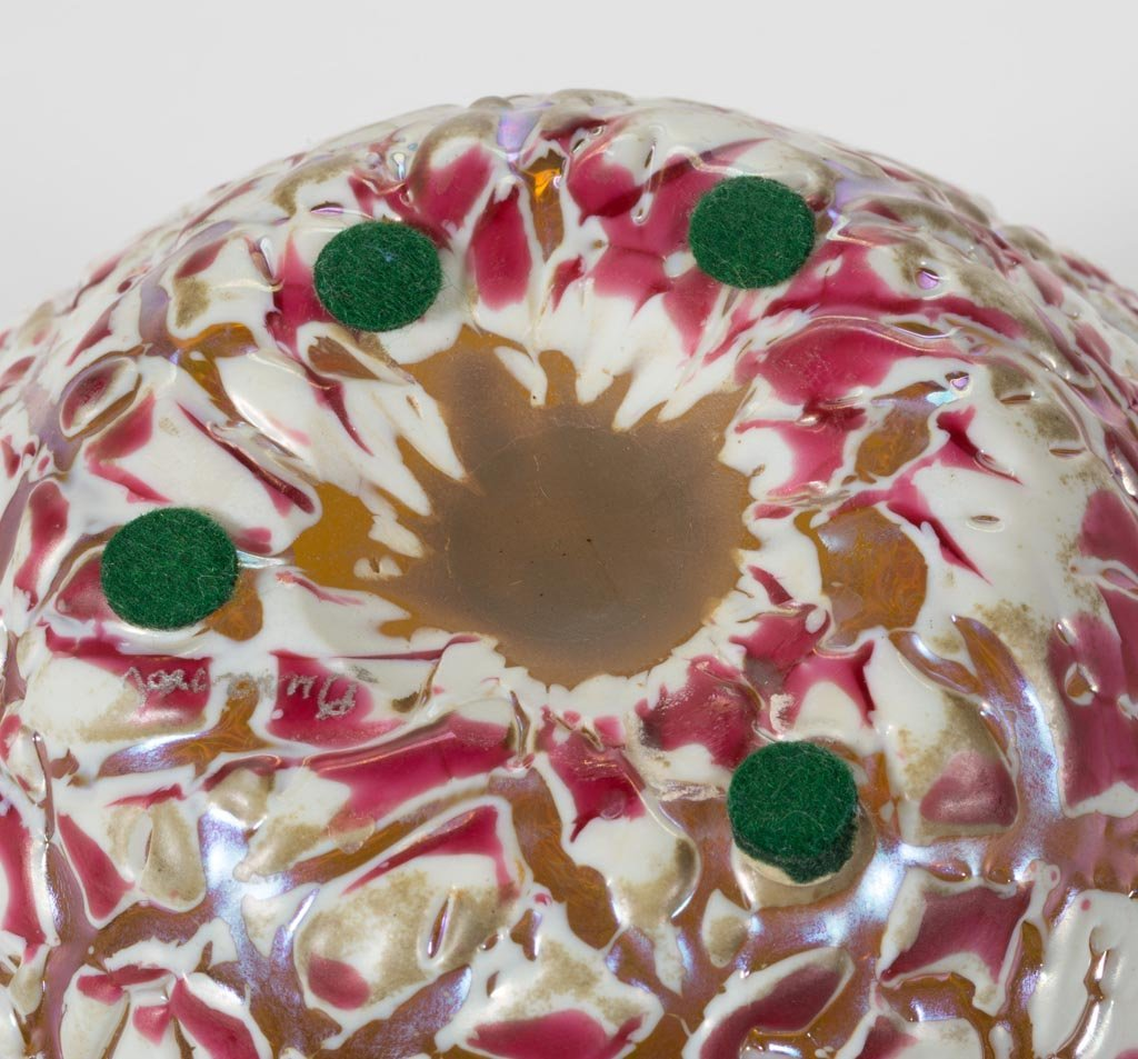 DURAND MOORISH CRACKLE ART GLASS PAIR OF GINGER JARS, - 5