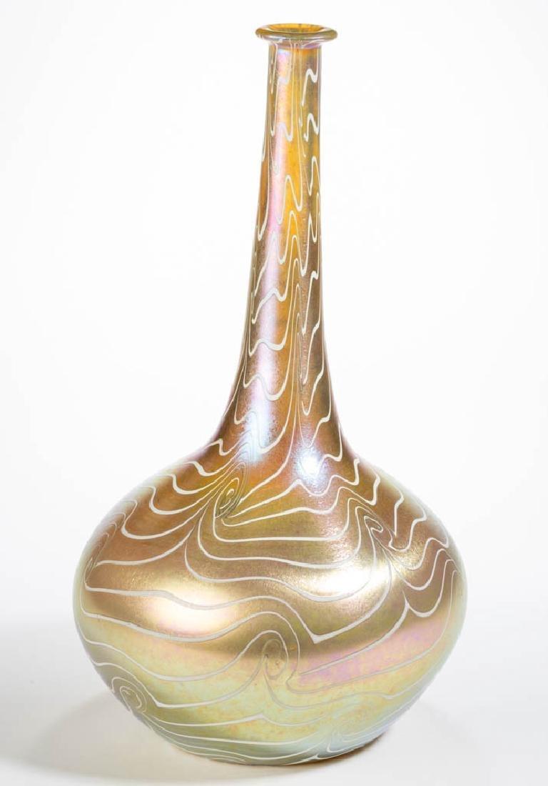 DURAND KING TUT ART GLASS STICK / DEMI-JOHN VASE - 2