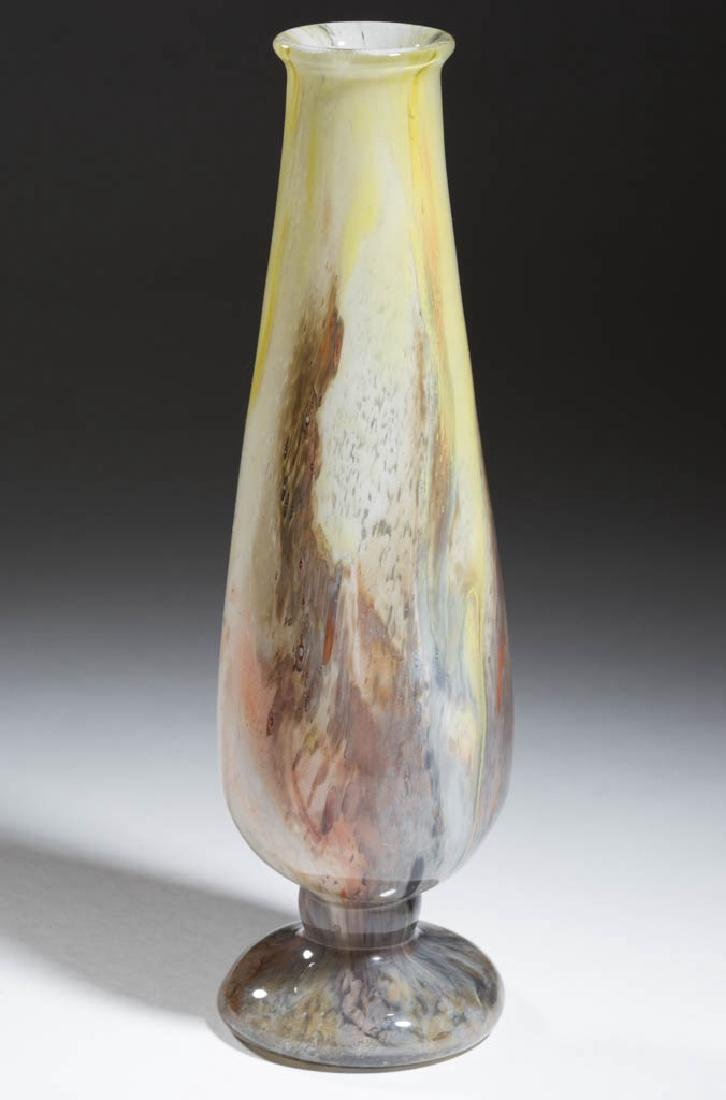 DURAND KIMBLE CLUTHRA ART GLASS VASE - 2