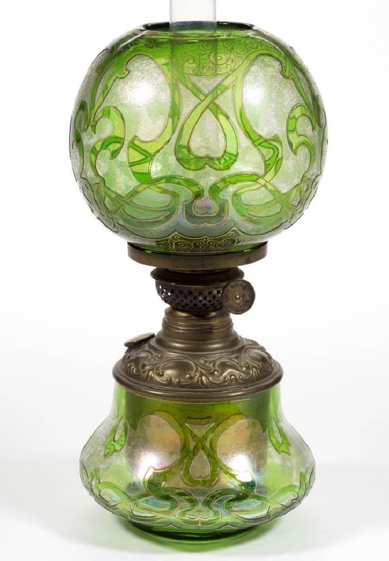 DORFLINGER HONESDALE CAMEO ART GLASS MINIATURE LAMP