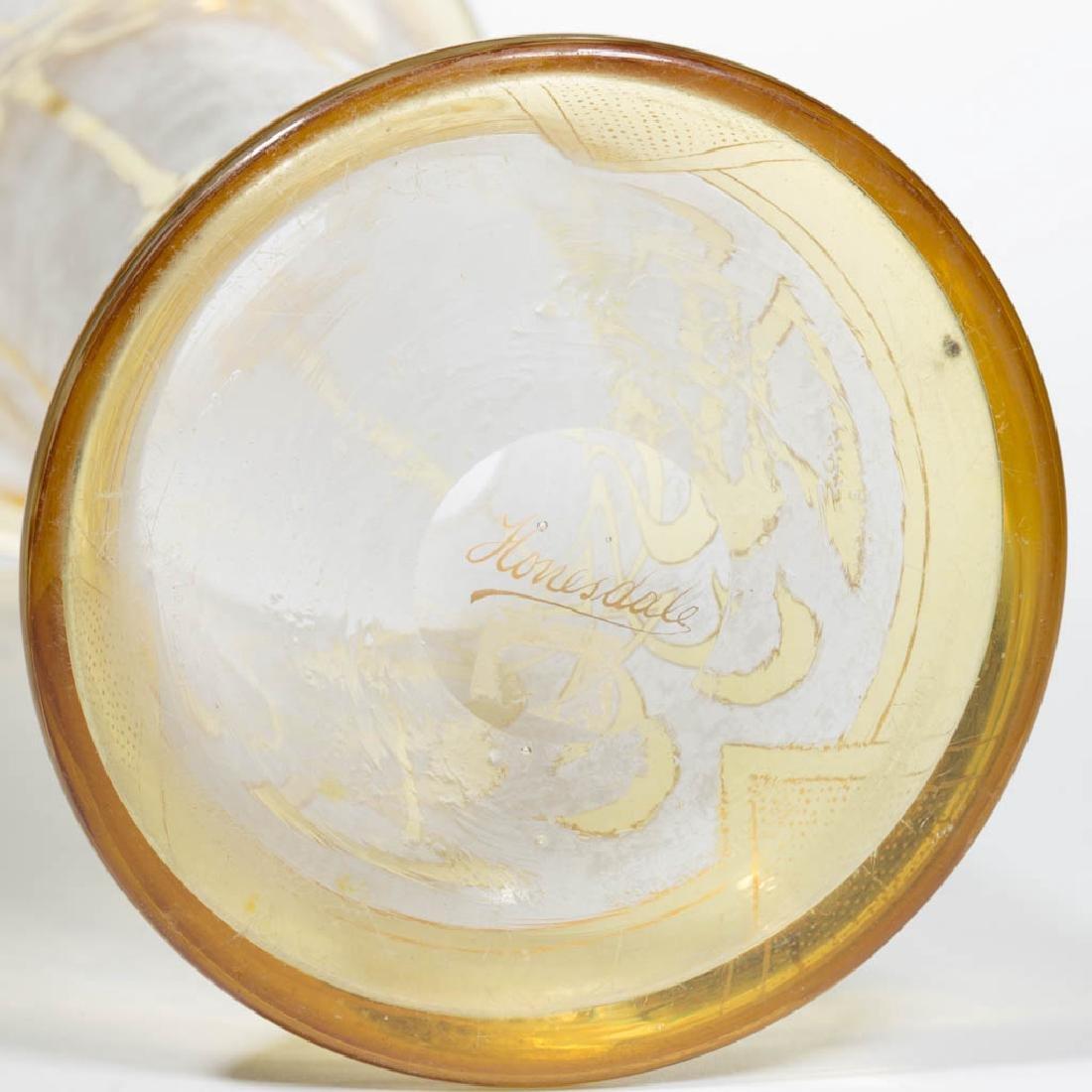 DORFLINGER HONESDALE CAMEO ART GLASS VASE - 3