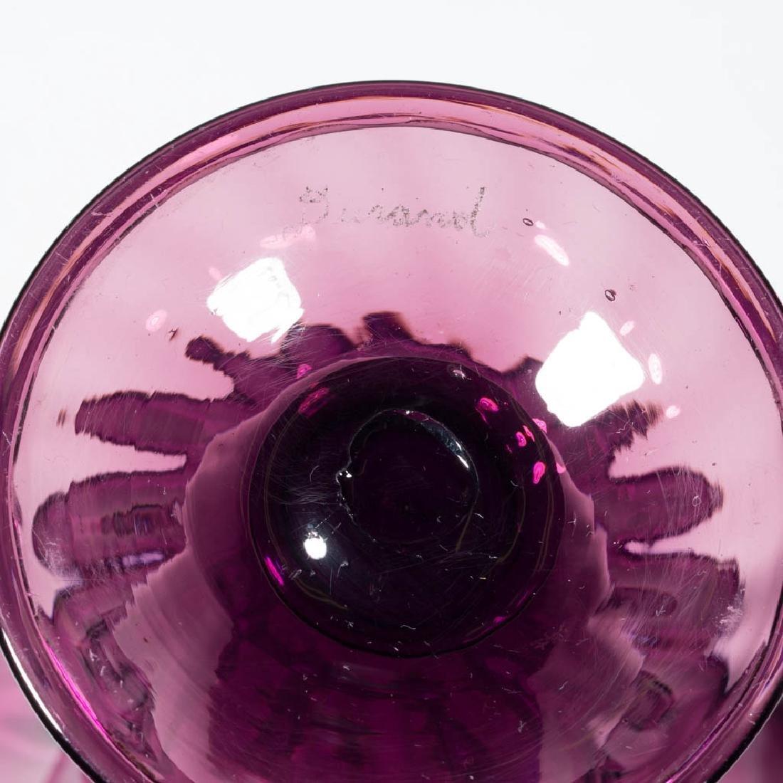 STEUBEN RIBBED-OPTIC ART GLASS TRUMPET VASE - 2