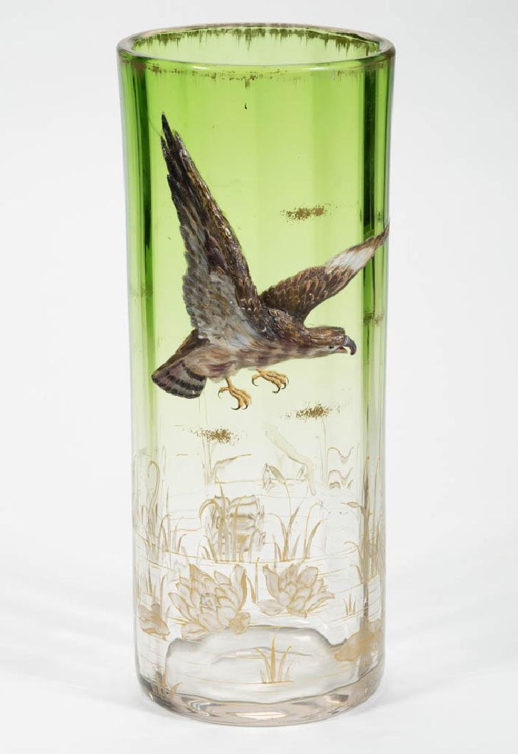 MOSER ATTRIBUTED FLYING EAGLE HIGH-RELIEF VASE
