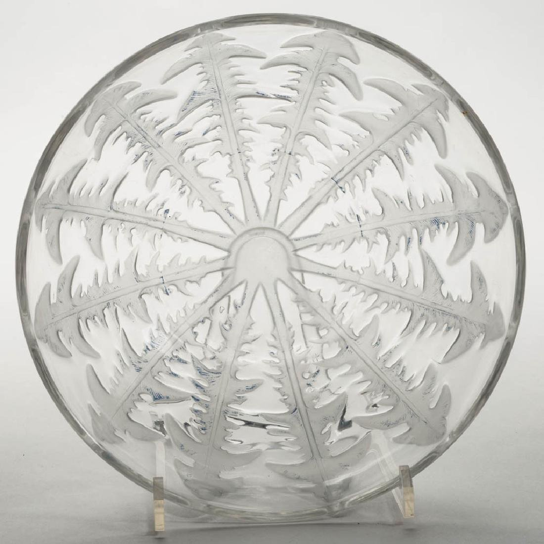 LALIQUE PISSENLIT ART GLASS BOWL - 2