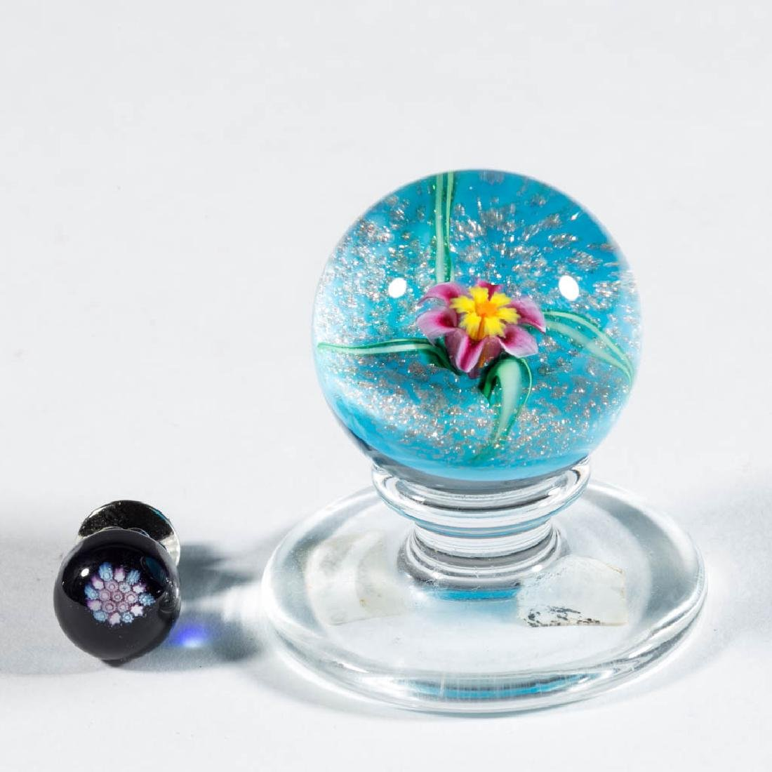 CHARLES KAZIUN STUDIO ART GLASS MINIATURE PAPERWEIGHTS,