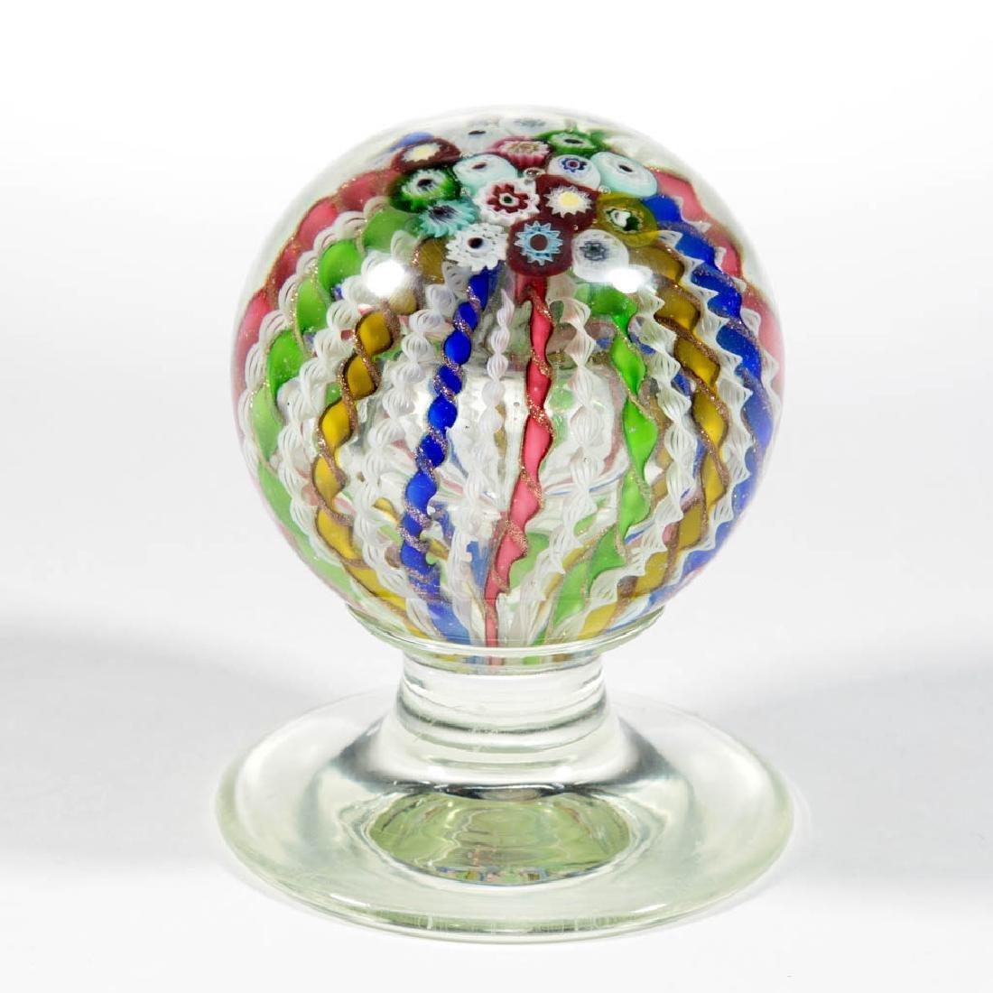 CONTEMPORARY MURANO ART GLASS PEDESTAL PAPERWEIGHT