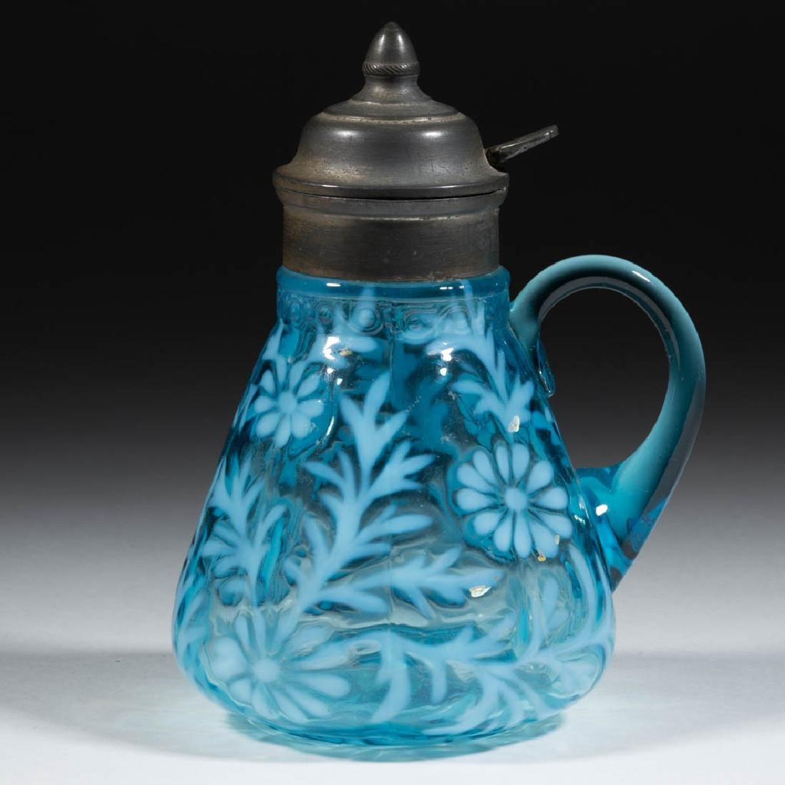 DAISY AND FERN - W. VA OPTIC MOLD SYRUP PITCHER