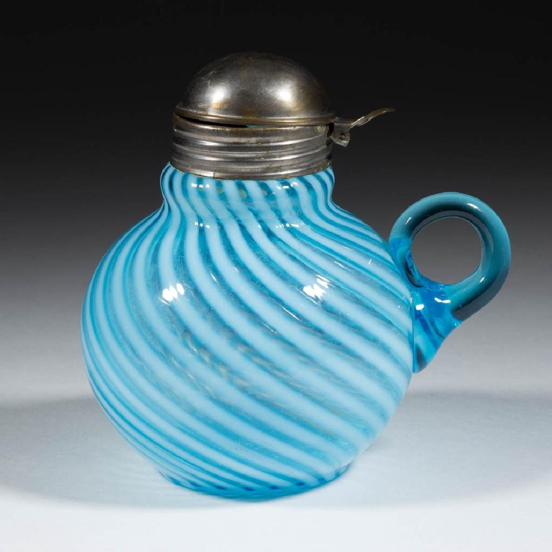 HOBBS' NO. 325 / OPAL SWIRL SYRUP PITCHER