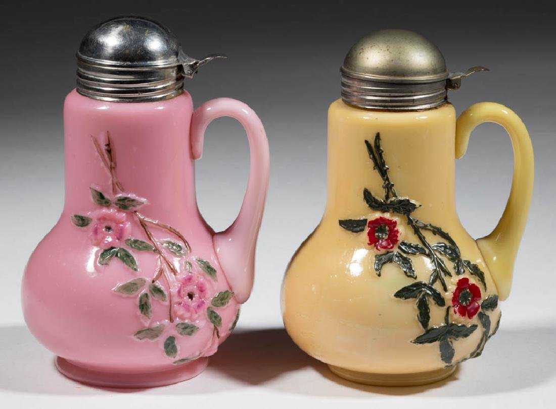 VINING ROSE / MURANESE SYRUP PITCHERS, LOT OF TWO