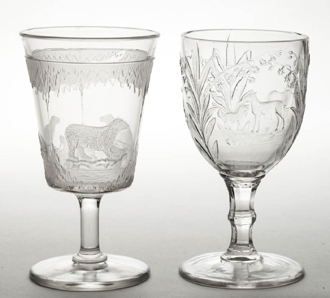 ASSORTED EAPG GOBLETS, LOT OF TWO