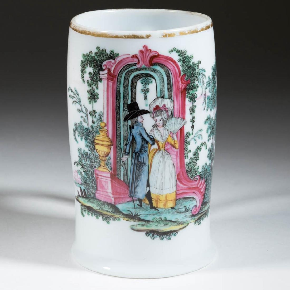 FREE-BLOWN AND DECORATED TANKARD