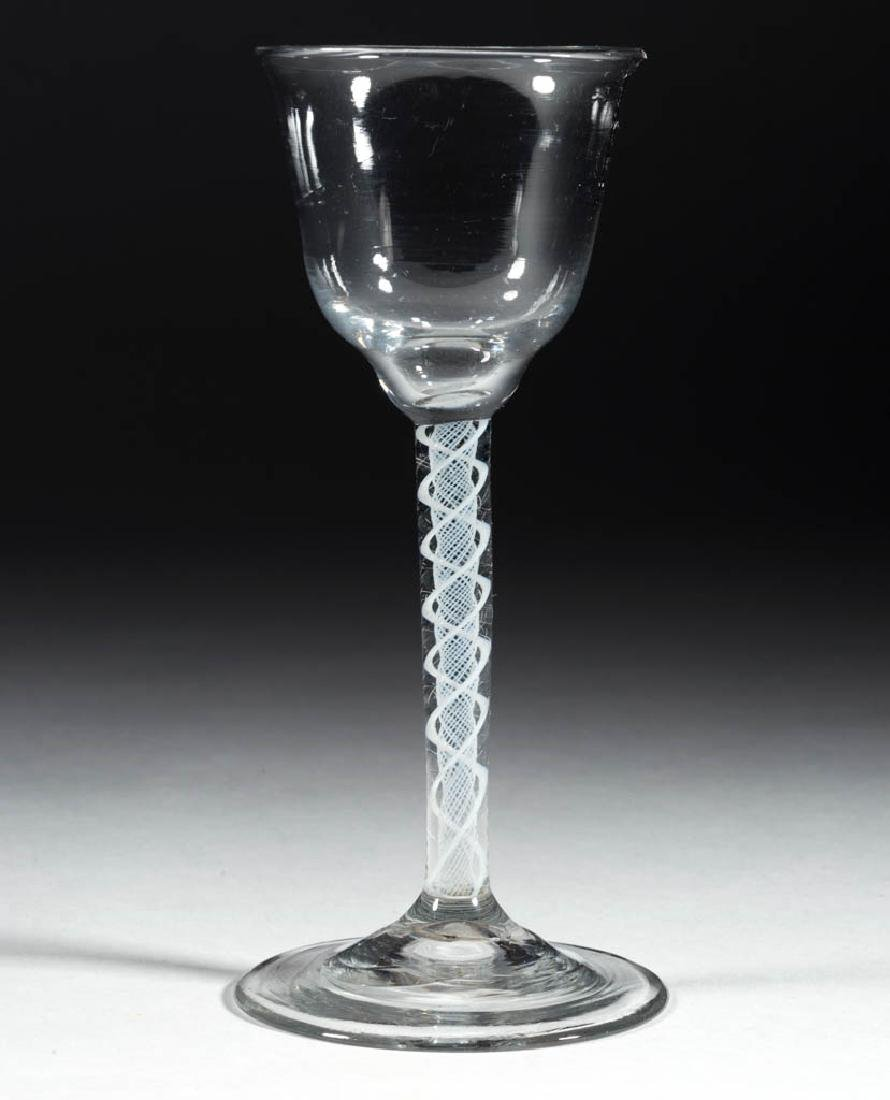 CONTINENTAL FREE-BLOWN OPAQUE-TWIST WINE GLASS