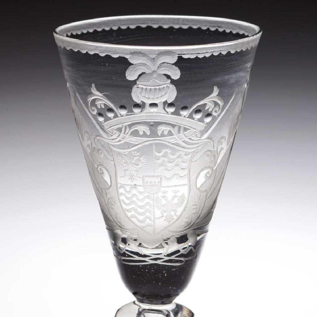 CONTINENTAL FREE-BLOWN AND ARMORIAL ENGRAVED - 2