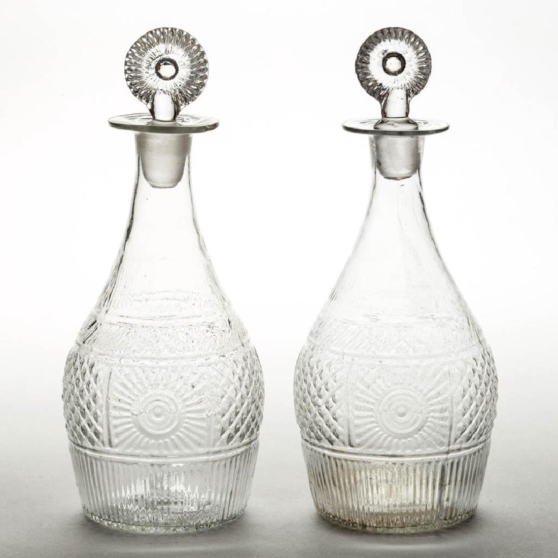 BLOWN-MOLDED GIII-16 PAIR OF PINT DECANTERS