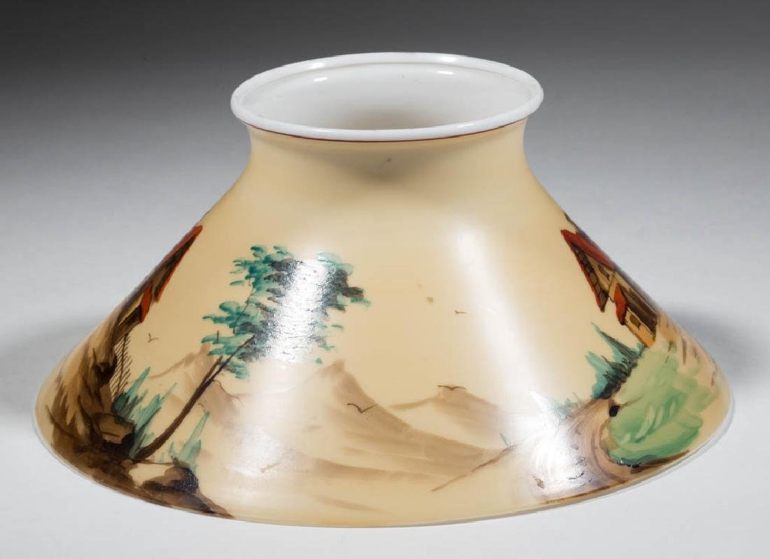 DECORATED OPAL CONE-FORM LAMP SHADE - 2
