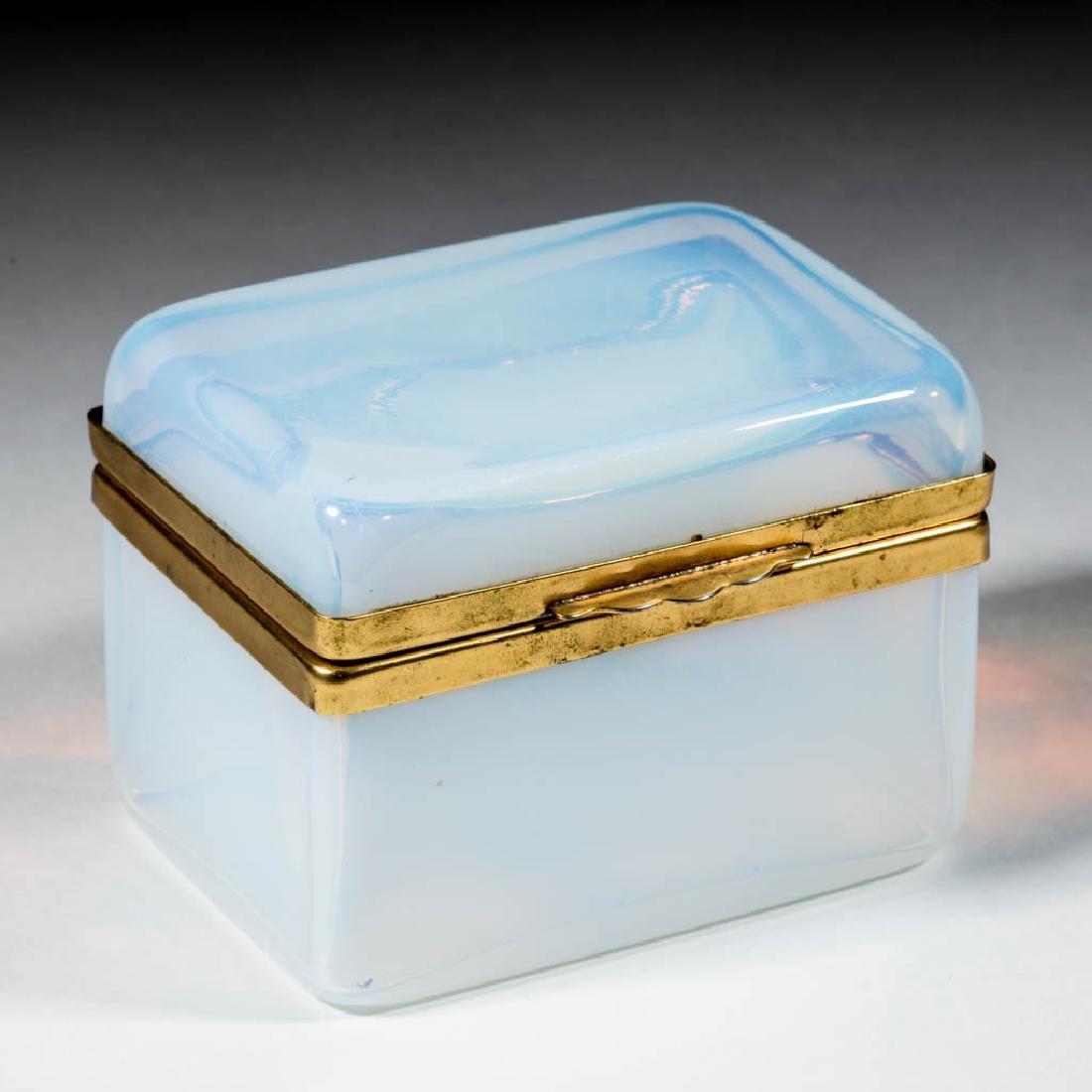 CONTINENTAL OPALESCENT GLASS DRESSER BOX