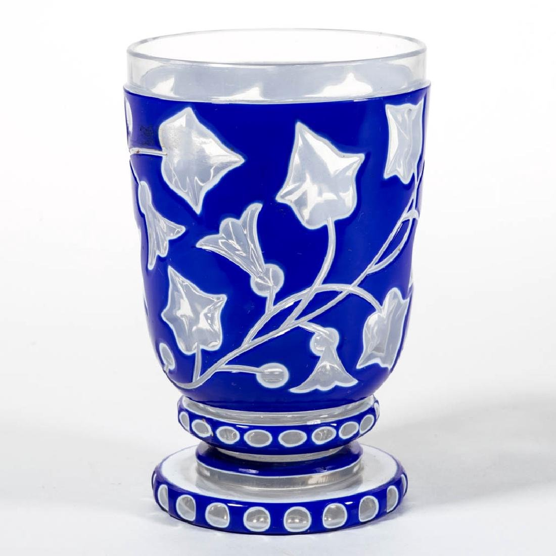 BOHEMIAN CUT DOUBLE-OVERLAY BEAKER / FOOTED TUMBLER