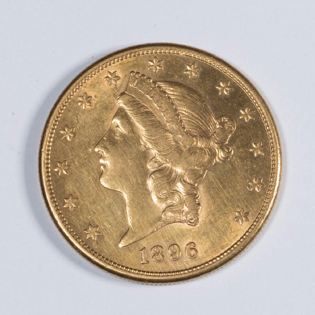 UNITED STATES 1896-S LIBERTY HEAD $20 GOLD COIN