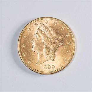 UNITED STATES 1899 LIBERTY HEAD 20 GOLD COIN