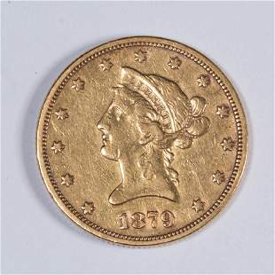 UNITED STATES 1879 LIBERTY HEAD 10 GOLD COIN