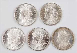 UNITED STATES SILVER 1880S MORGAN DOLLAR COINS LOT OF