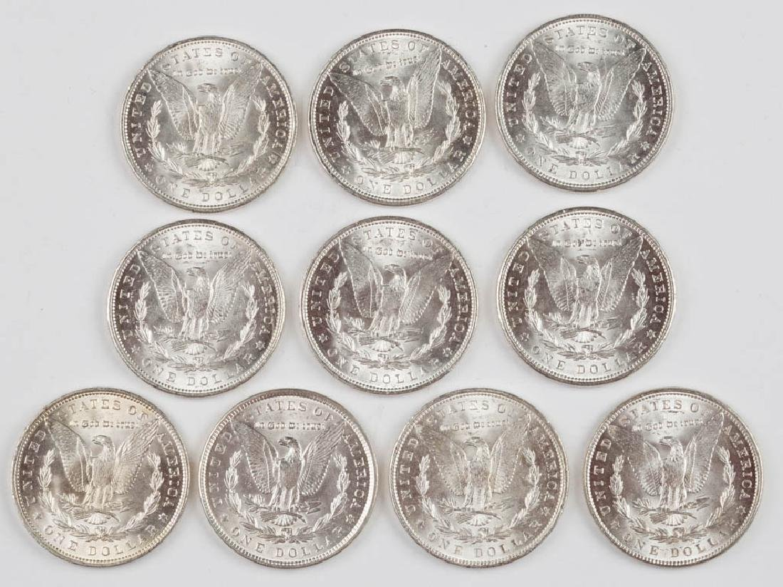 UNITED STATES SILVER 1889 MORGAN DOLLAR COINS, LOT OF - 2