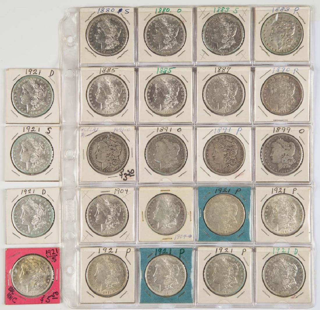 ASSORTED UNITED STATES SILVER MORGAN DOLLAR COINS, LOT