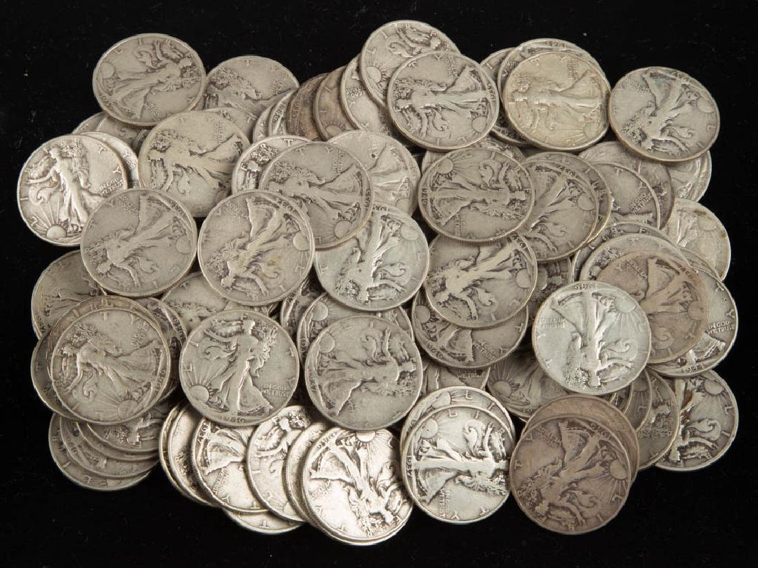 UNITED STATES SILVER WALKING LIBERTY HALF DOLLAR COINS,