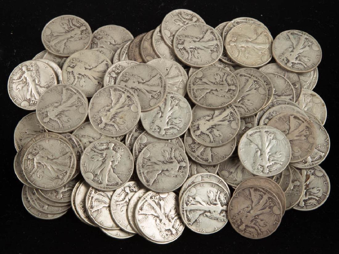 UNITED STATES SILVER WALKING LIBERTY HALF DOLLAR COINS,