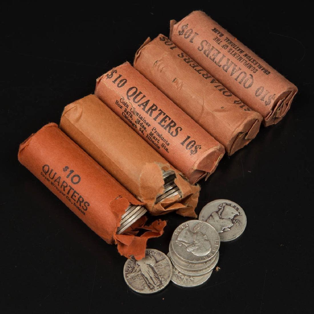 UNITED STATES SILVER WASHINGTON 25C COINS
