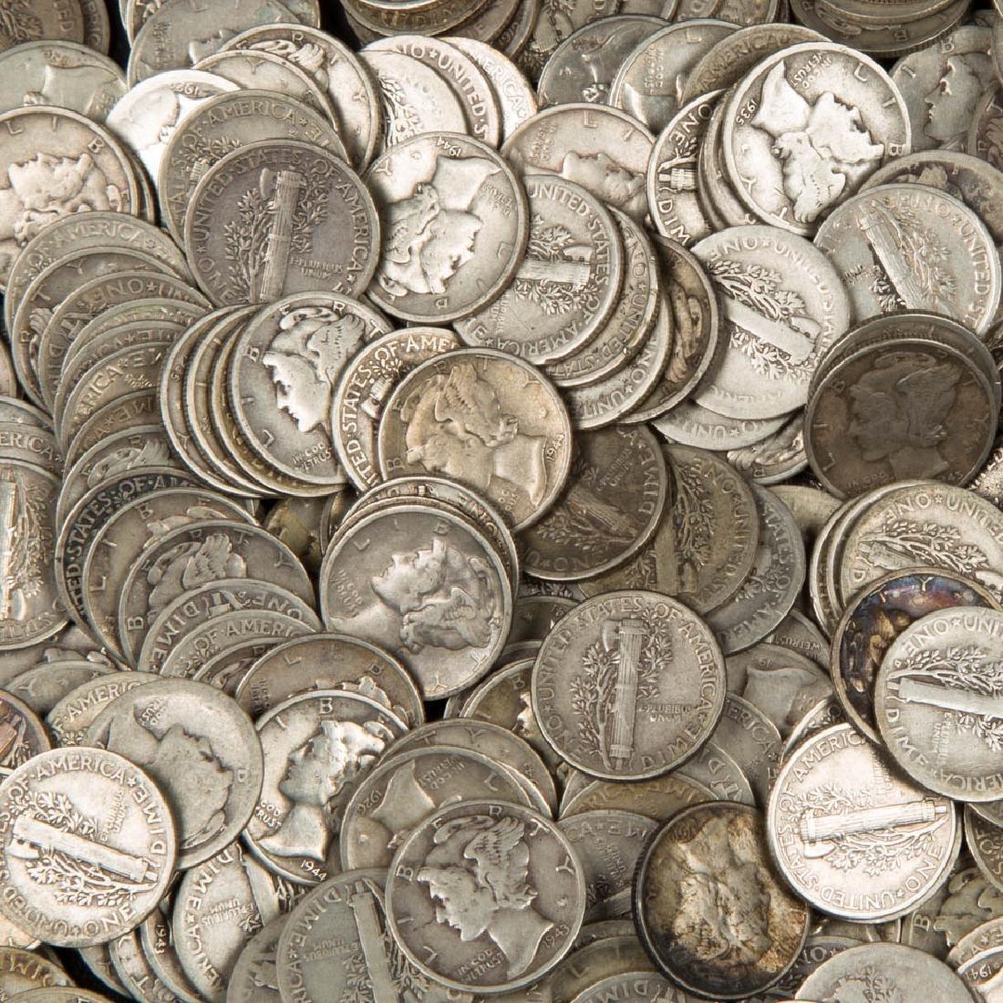 UNITED STATES SILVER MERCURY 10C COINS