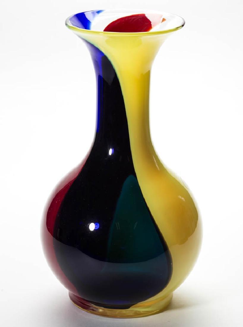 BLENKO MARDI GRAS GLASS - JOHN NICKERSON NO. 3 VASE