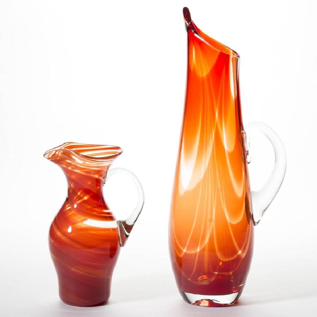 BLENKO CHARISMA GLASS - JOHN NICKERSON PITCHERS, LOT OF