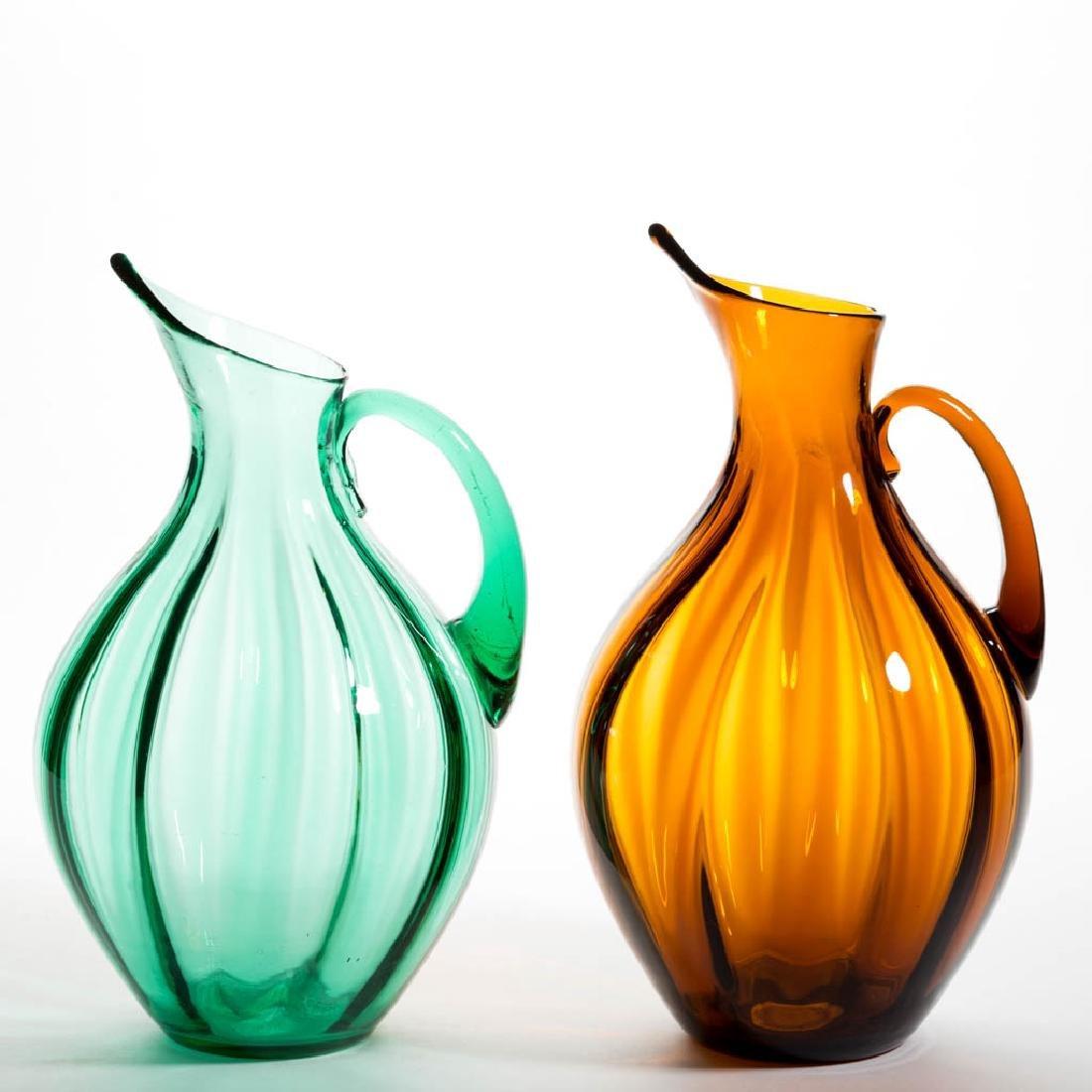 BLENKO NO. 991 GLASS - WINSLOW ANDERSON PITCHERS, LOT