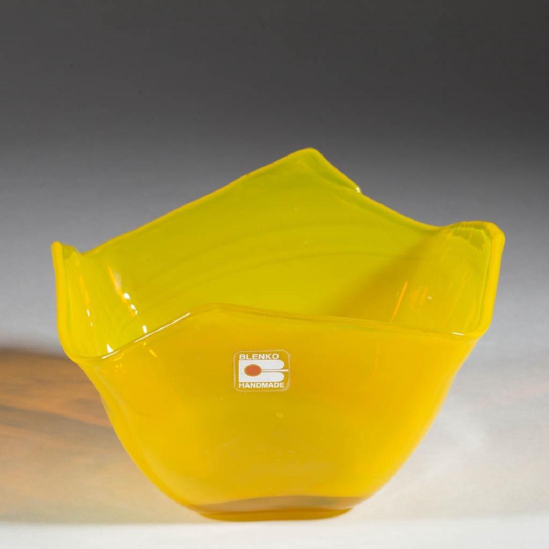BLENKO OPALINE YELLOW GLASS - DON SHEPERD DISH