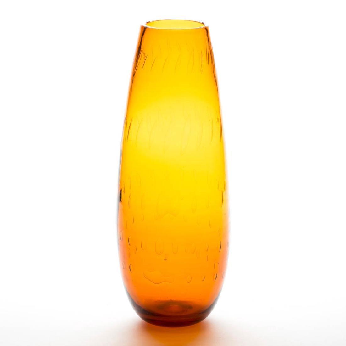 BLENKO AIR-TRAP GLASS VASE