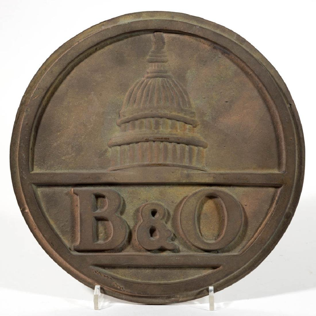 BALTIMORE AND OHIO RAILROAD BRONZE SIGN OR EMBLEM