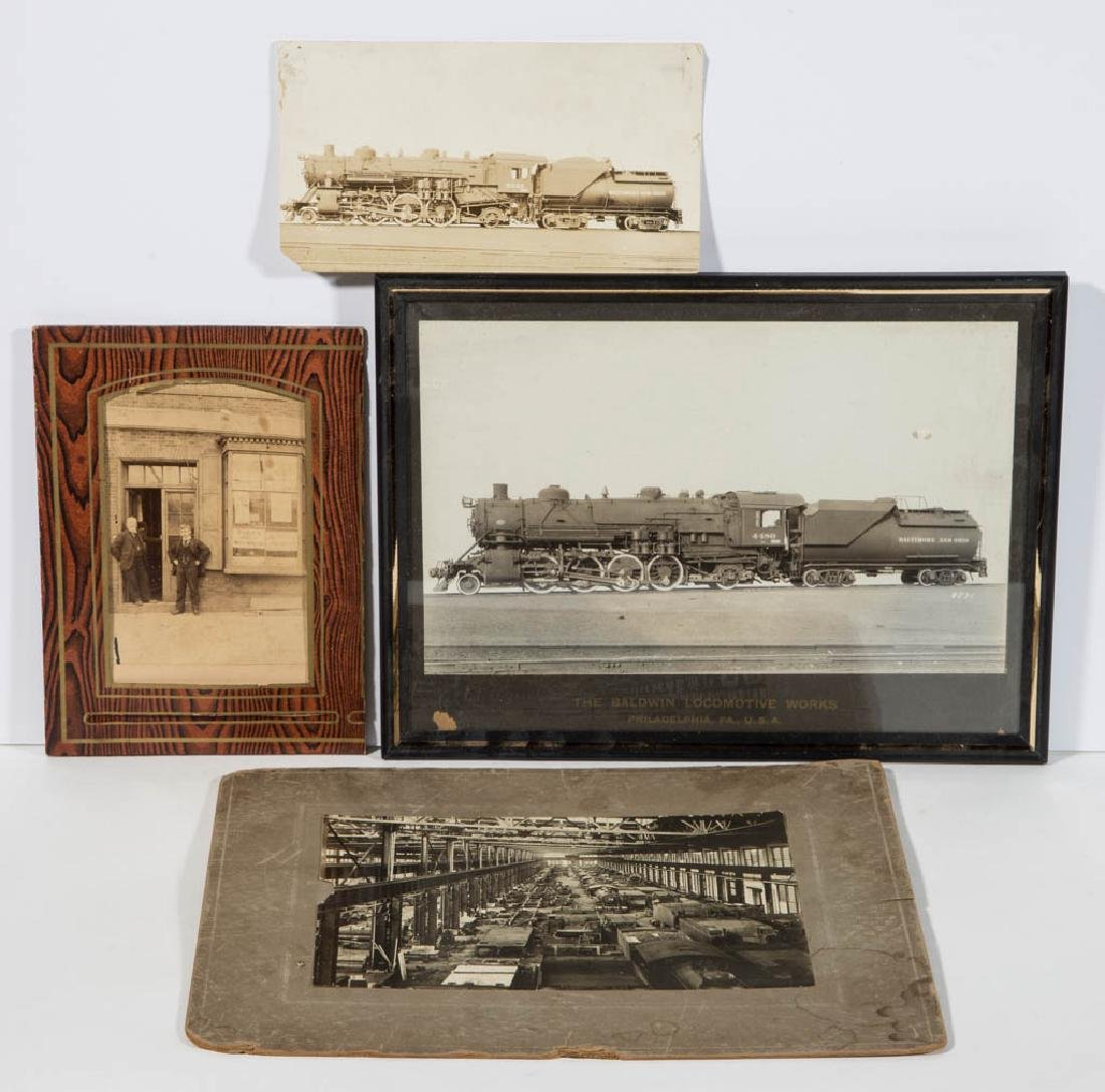 ASSORTED RAILROAD PHOTOGRAPHS, LOT OF FOUR