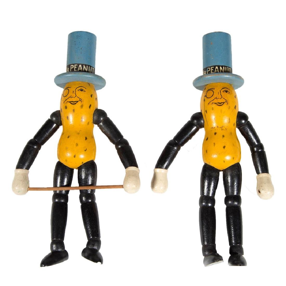 PLANTERS MR. PEANUT JOINTED WOODEN ADVERTISING DOLLS,