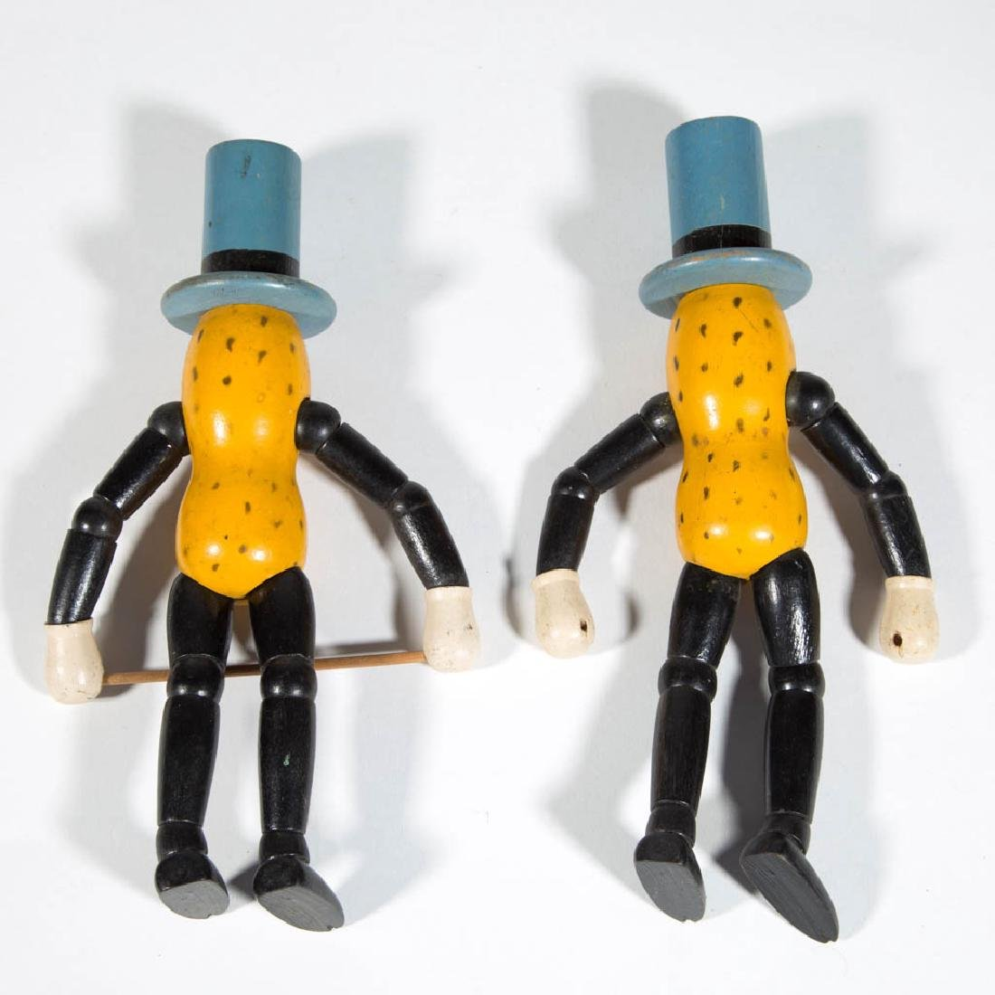 PLANTERS MR. PEANUT JOINTED WOODEN ADVERTISING DOLLS, - 2