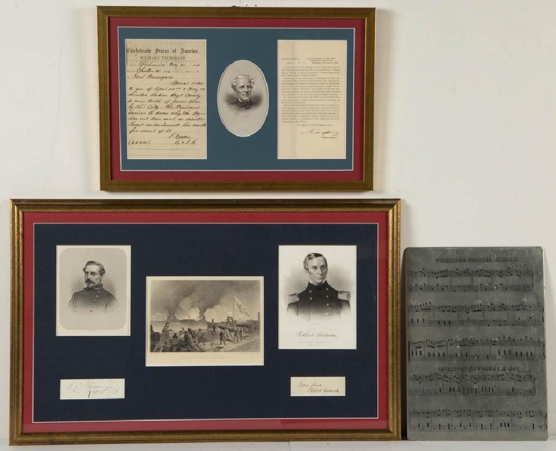 CIVIL WAR CONFEDERATE GENERAL AND RELATED SIGNATURES,