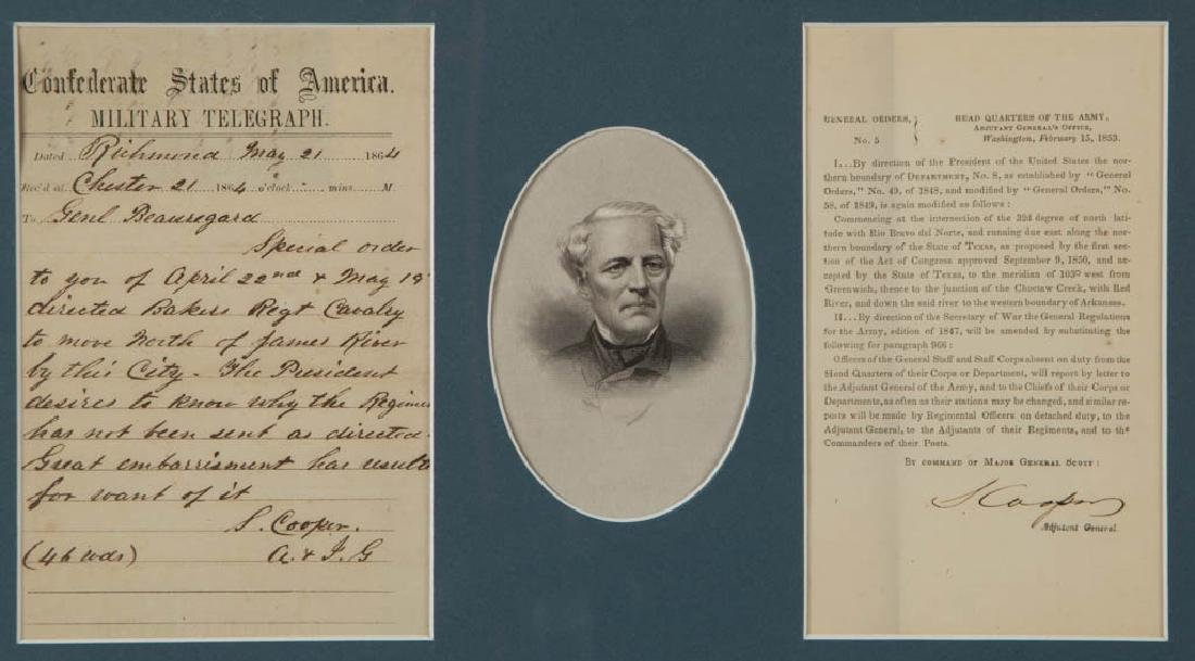 CIVIL WAR CONFEDERATE GENERAL AND RELATED SIGNATURES, - 2