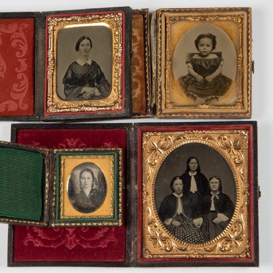 ASSORTED CASED PHOTOGRAPHIC IMAGES, LOT OF TEN - 2