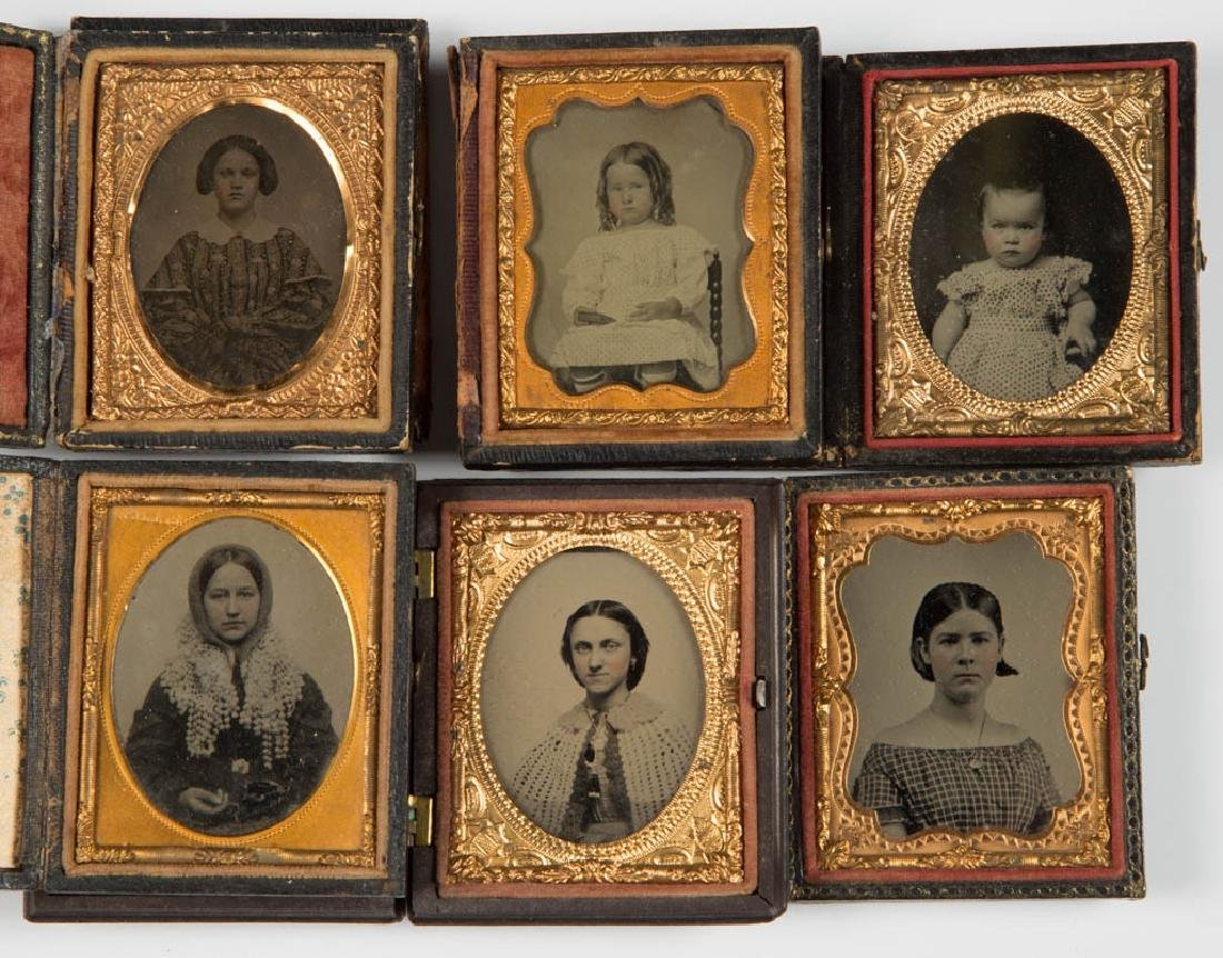 ASSORTED CASED PHOTOGRAPHIC IMAGES, LOT OF TEN - 3
