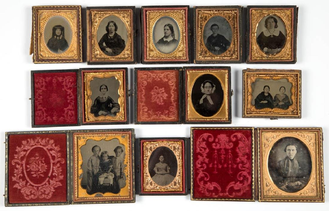 ASSORTED CASED PHOTOGRAPHIC IMAGES, LOT OF 11