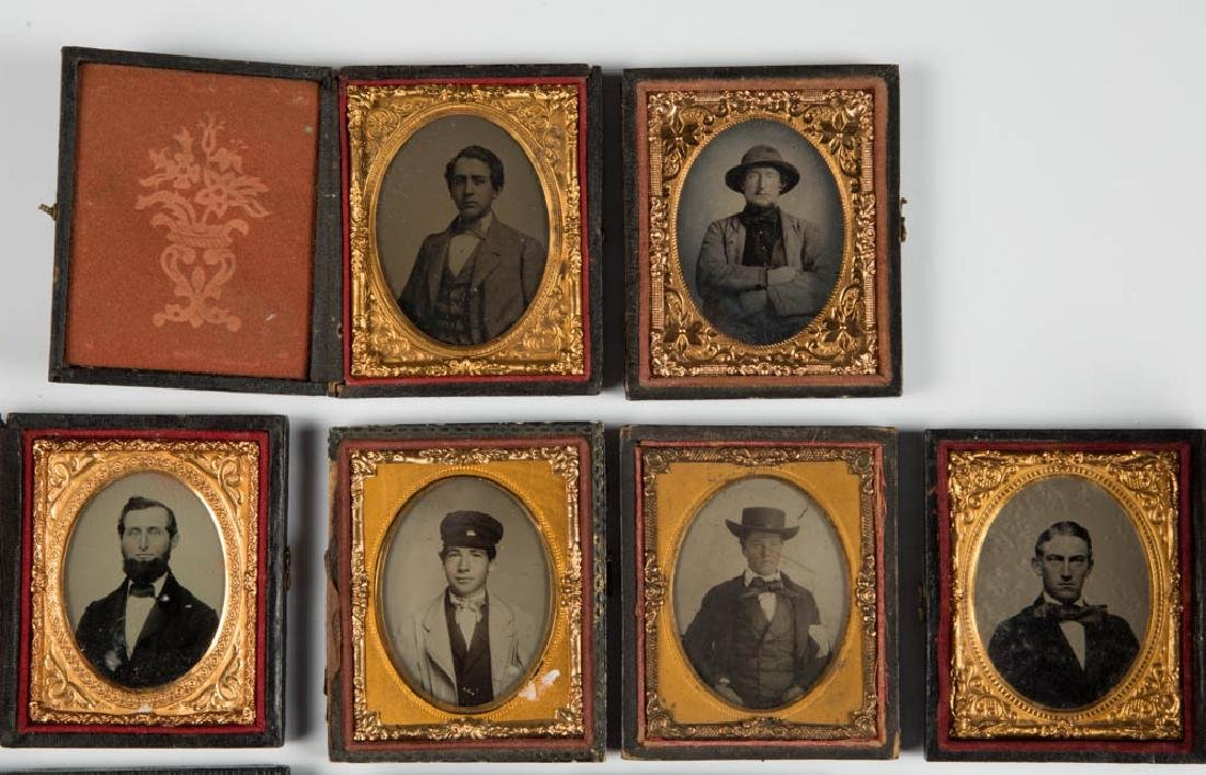 ASSORTED CASED PHOTOGRAPHIC IMAGES, LOT OF 12 - 2